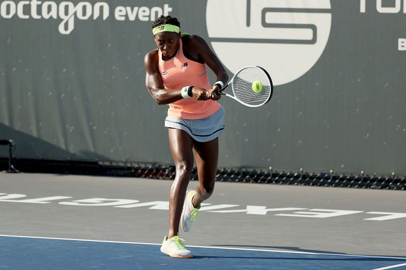 Coco Gauff in action at the Top Seed Open