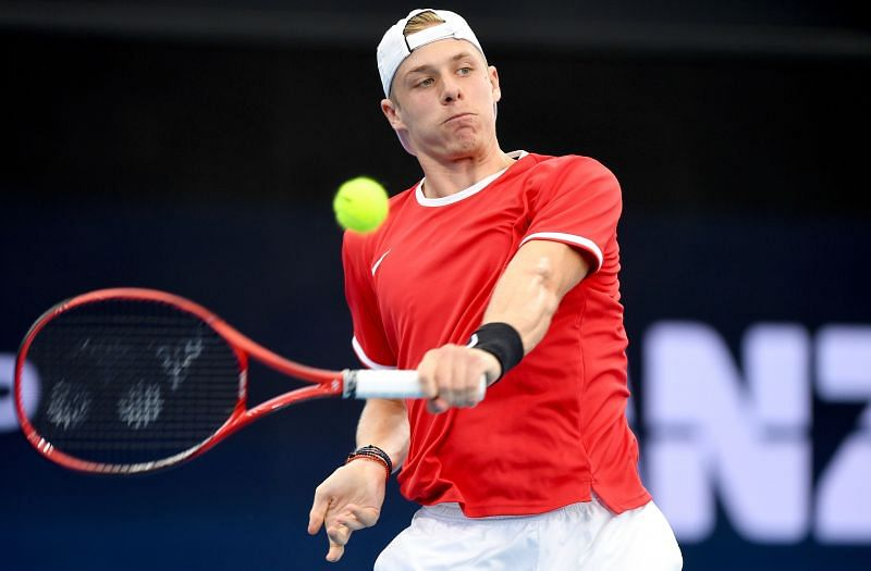 Denis Shapovalov in action at the ATP Cup