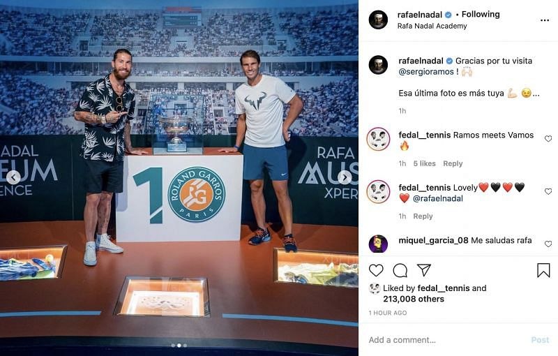 With Rafael Nadal