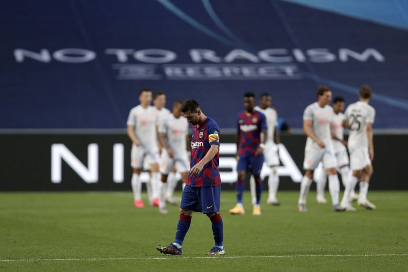 Barcelona were humiliated by Bayern Munich in the quarter-finals of the UEFA Champions League