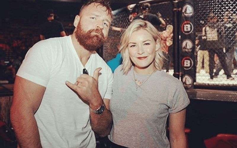 Jon Moxley and Renee Young