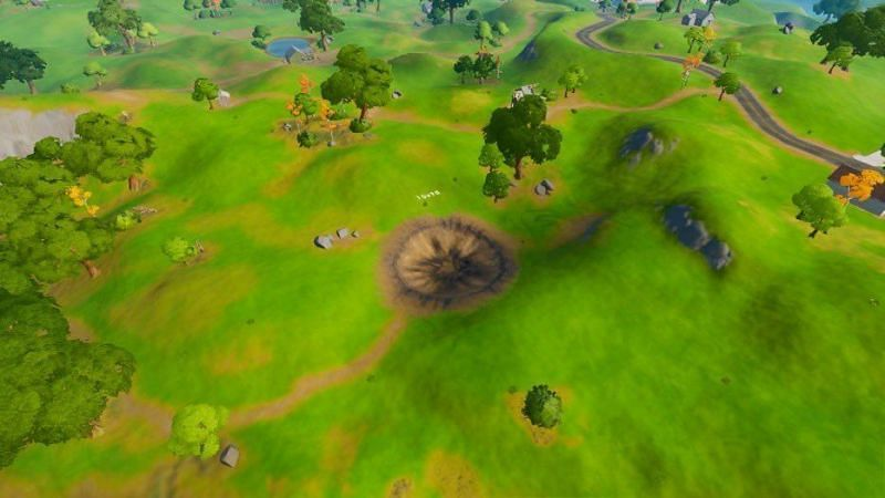 The Crater POI in Fortnite (Image Credits: Mikey/ Twitter)