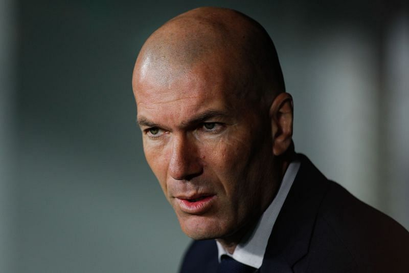Head coach Zinedine Zidane of Real Madrid