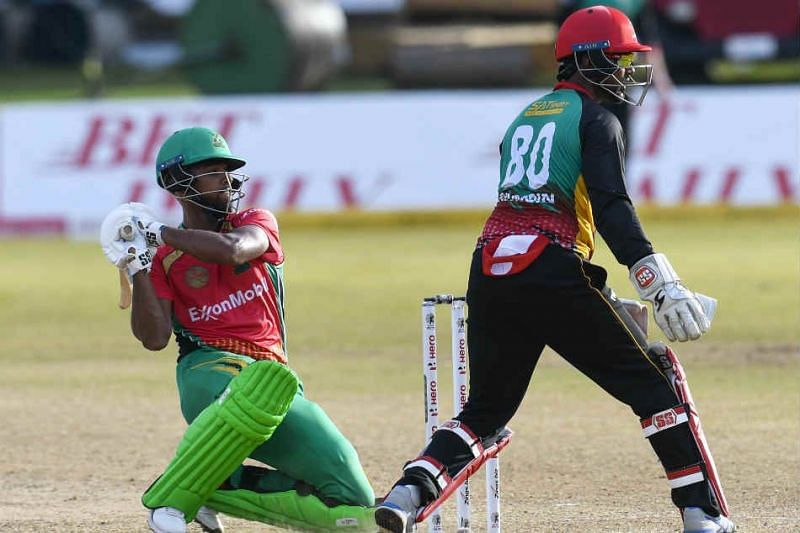 Nicholas Pooran (L) will look to carry on his great run in the next CPL game