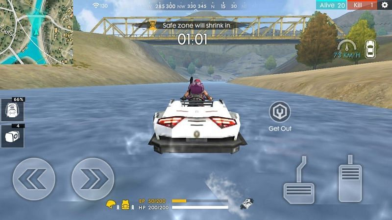 An amphibious vehicle in Garena Free Fire (Image Credit: PG gamer/YT)