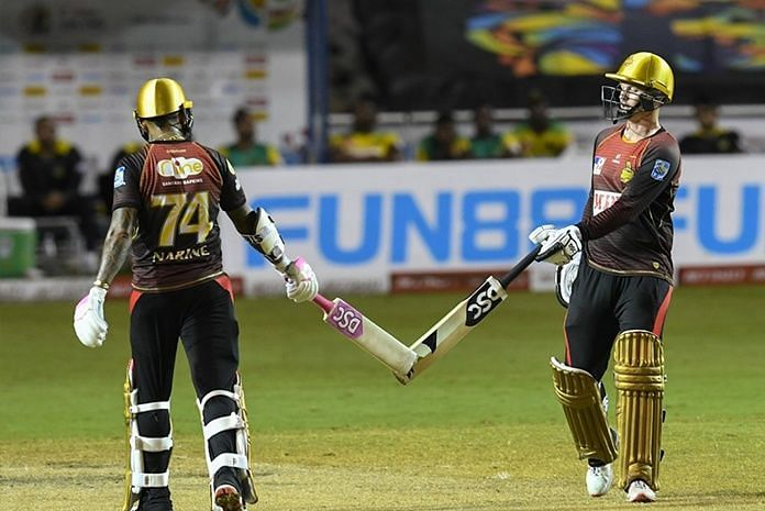 Narine(L) and Munro stitched a match-winning partnership in the CPL
