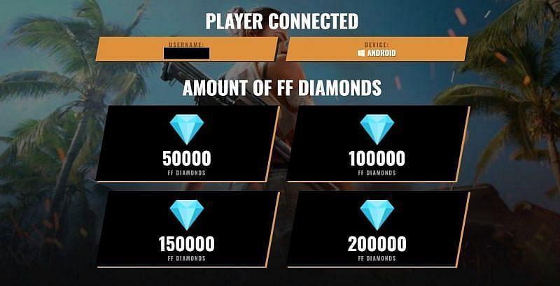 An unlimited diamonds generator tool