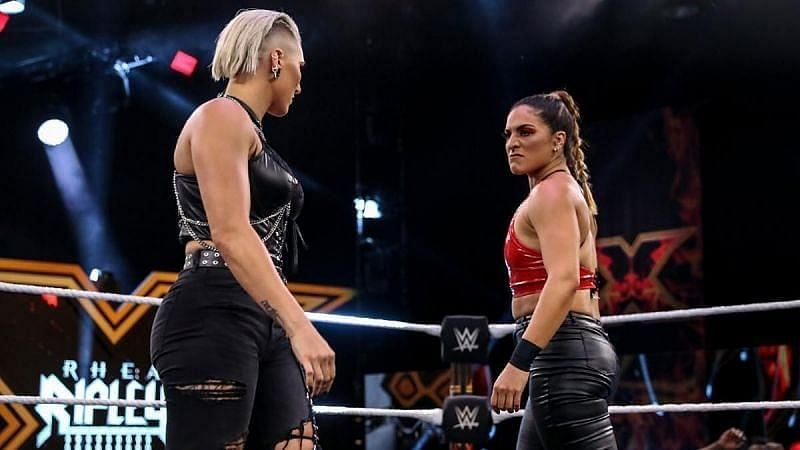Raquel Gonzalez and Rhea Ripley shared an intense moment at NXT Takeover 30.