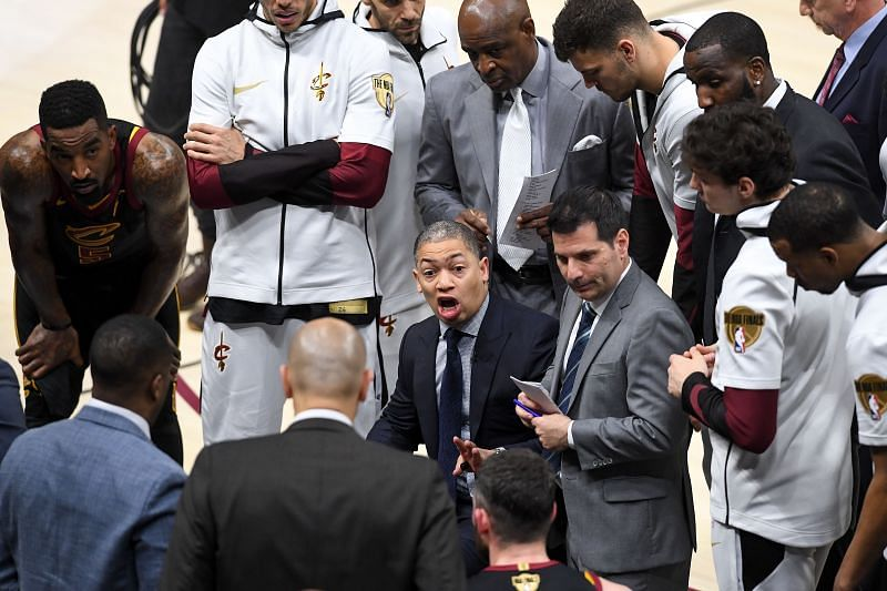 Ty Lue in the 2018 NBA Finals