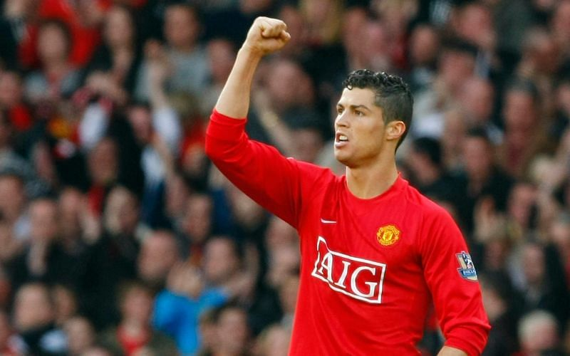 Ronaldo won three Premier League titles with Manchester United