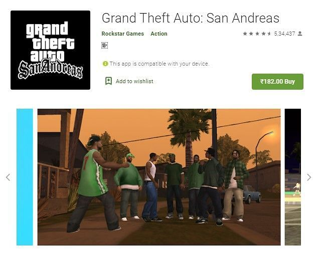 The only legitimate way to download GTA San Andreas on Android devices is by purchasing and downloading it from Google Play Store