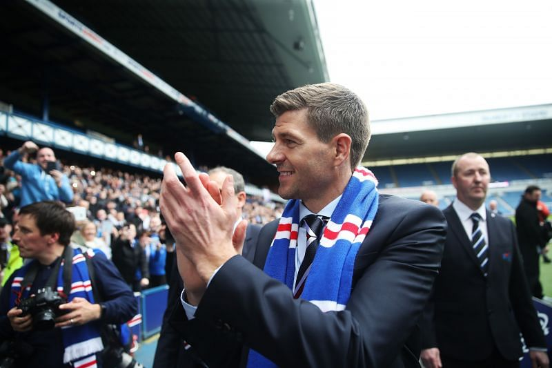 Steven Gerrard is unveiled as the new manager at Rangers back in 2018