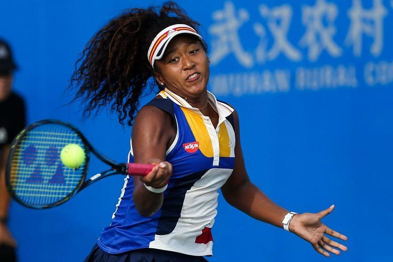 Naomi Osaka at the 2017 Wuhan Open