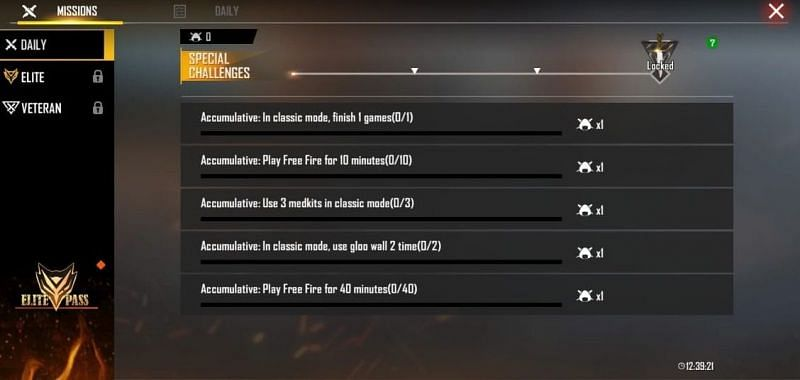 Missions to earn badges