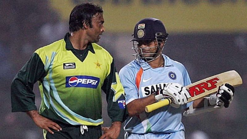 Sachin Tendulkar and Shoaib Akhtar duelled frequently in India-Pakistan contests