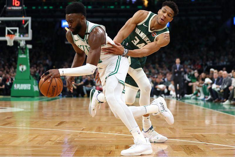The Milwaukee Bucks beat the Boston Celtics 119-112