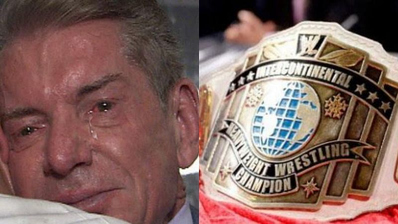 Vince McMahon and the old IC title belt.