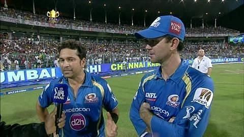 Sachin and Ponting have played for Mumbai Indians together.