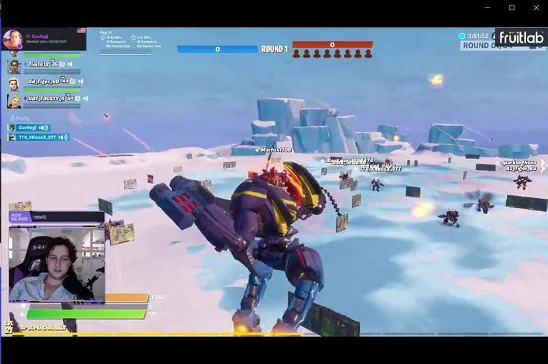 mech wars fortnite map