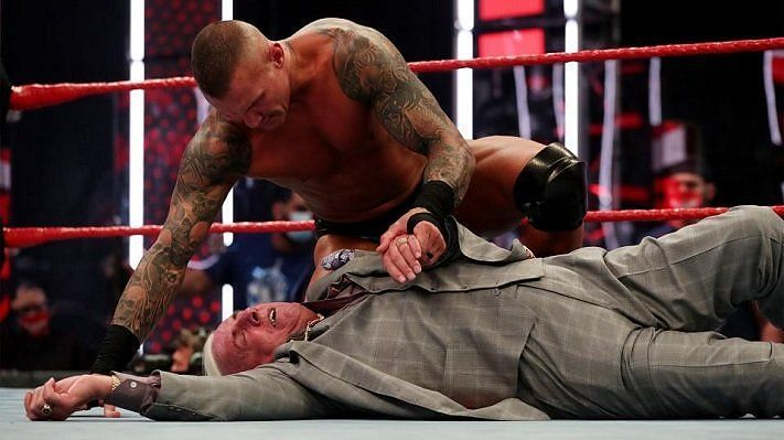 Randy Orton after his attack on Ric Flair