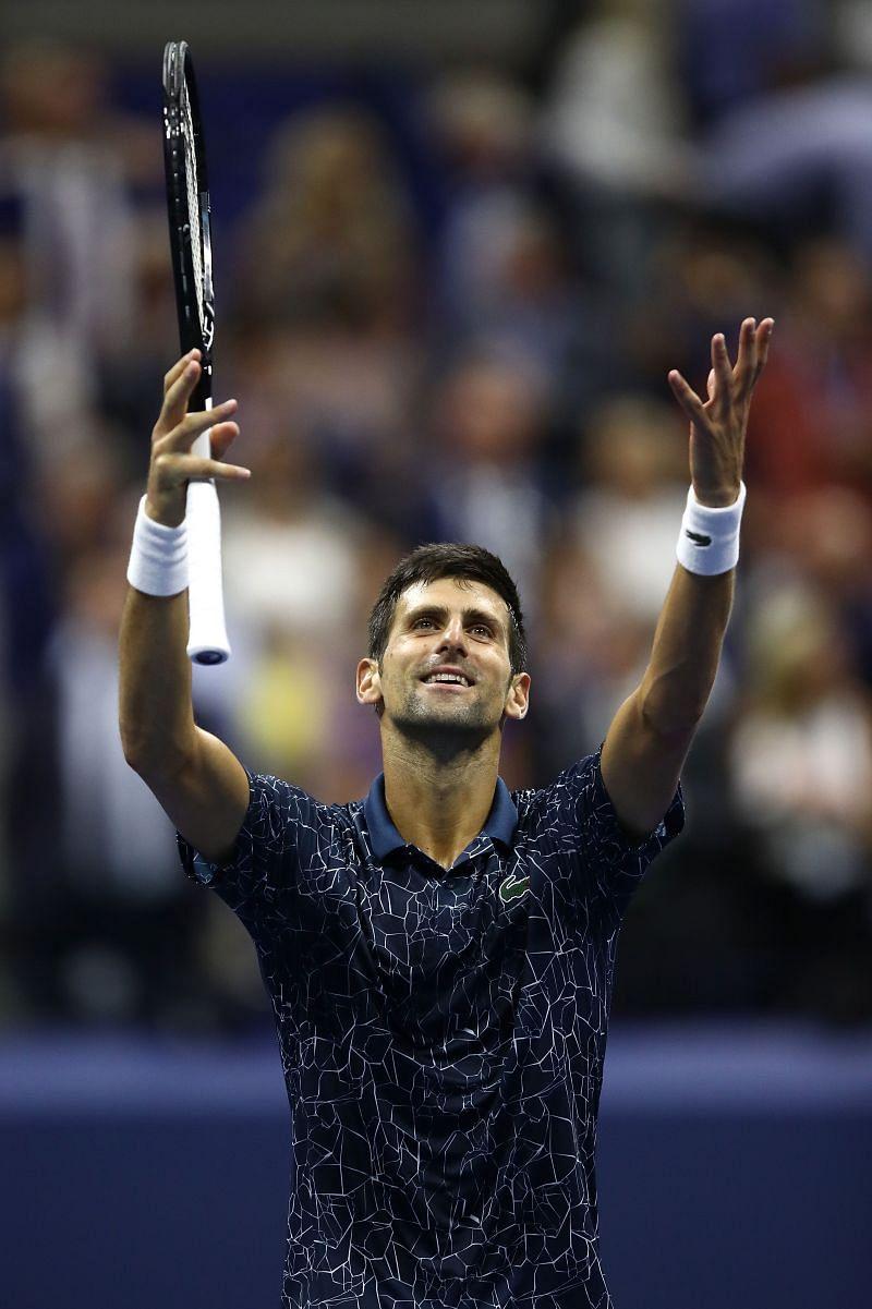 Novak Djokovic at the 2018 US Open