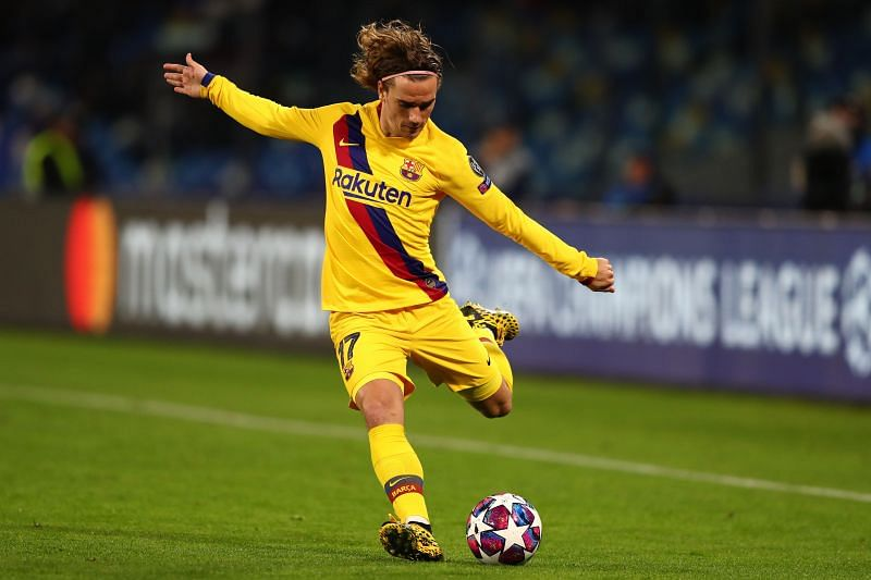 Antoine Griezmann in action for FC Barcelona