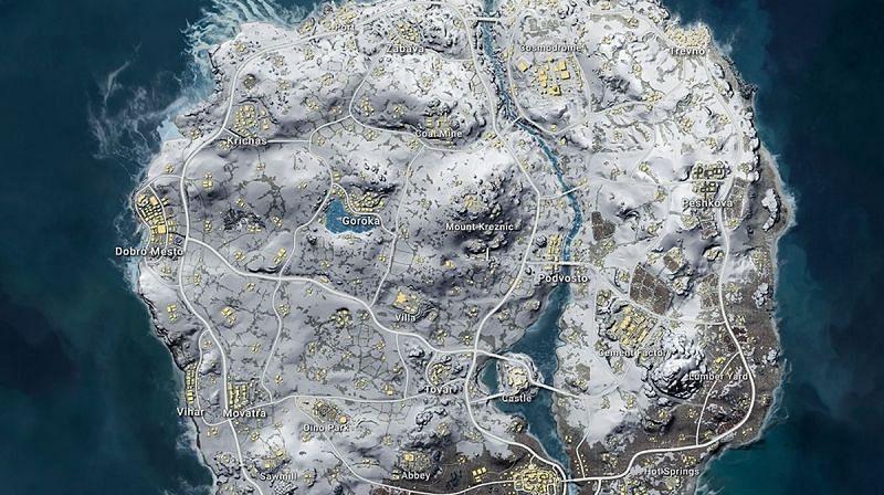 Vikendi map in PUBG Mobile (Image Credits: eurogamer)