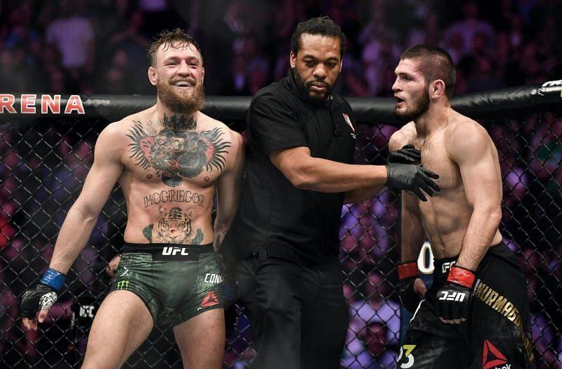 Conor McGregor and Khabib Nurmagomedov faced off at UFC 229