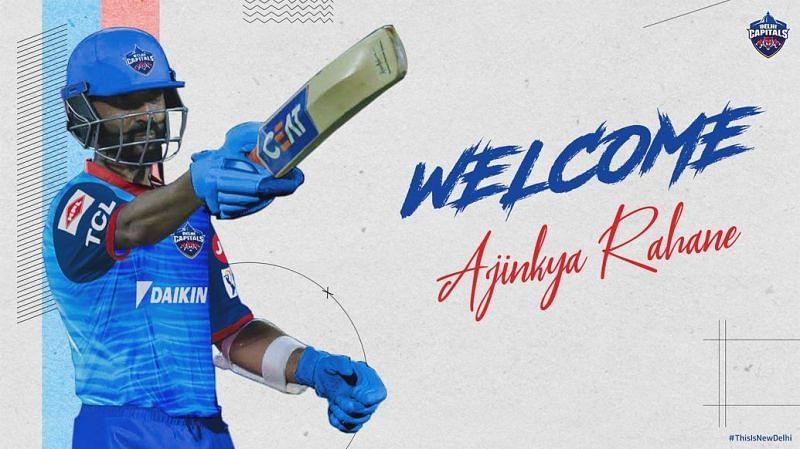 Ajinkya Rahane would be playing for Delhi Capitals this year [P/C: Delhi Capitals]