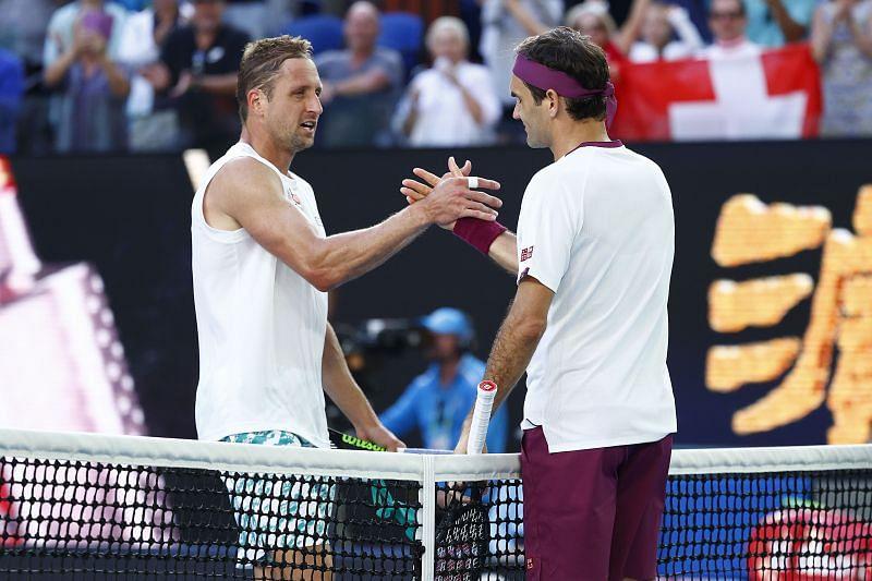 Tennys Sandgren after losing to Roger Federer