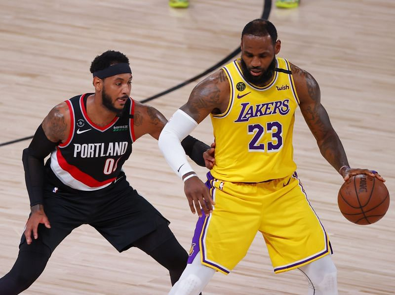 Portland Trail Blazers 122 131 La Lakers 5 Talking Points As Lebron James And Carmelo Anthony Recreate Old Match Up Nba Playoffs 2020