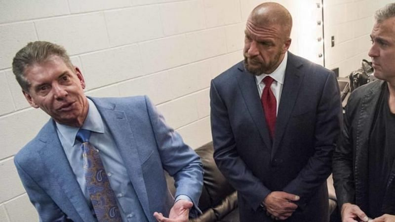 Vince McMahon and Triple H in WWE