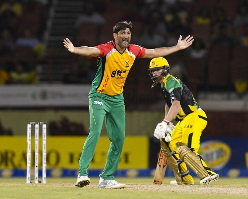 Sohail Tanvir has the second-best bowling figures in the CPL and the IPL