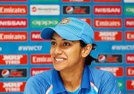 Smriti Mandhana attending a press conference