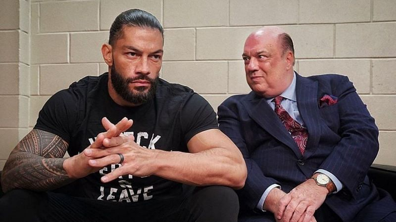 Roman Reigns and Paul Heyman.