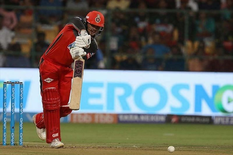 Quinton de Kock in action for RCB