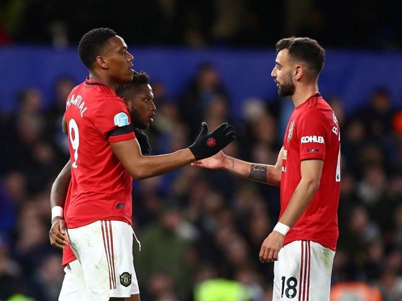 Bruno Fernandes and Anthony Martial will be Manchester United