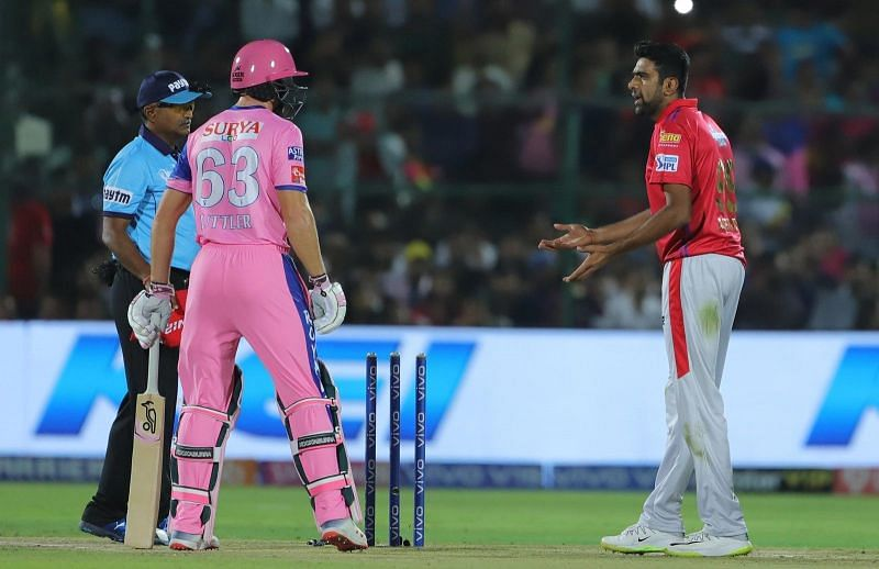 The then KXIP skipper R Ashwin received flak for