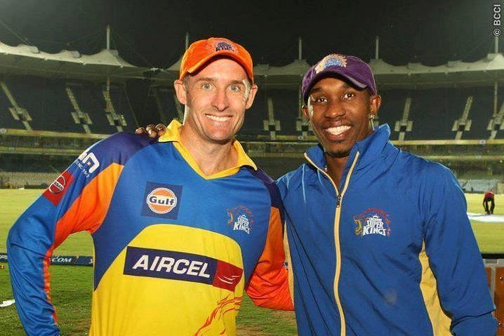 Mike Hussey and Dwayne Bravo are CSK