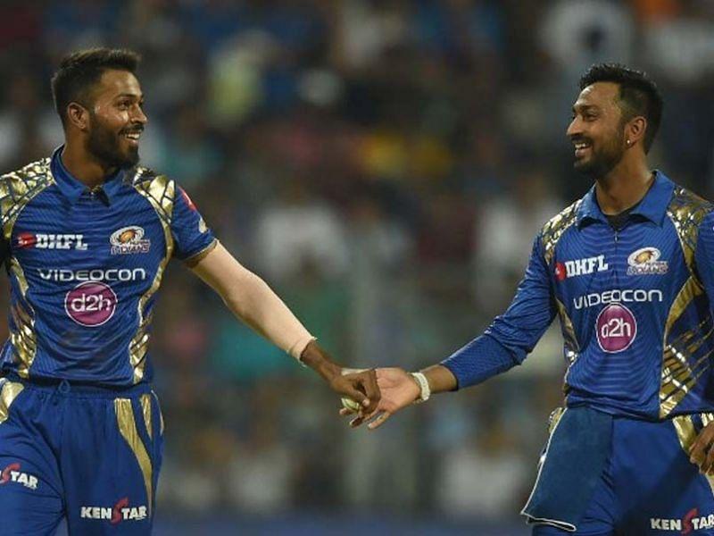 Hardik Pandya and Krunal Pandya play for the Mumbai Indians in IPL
