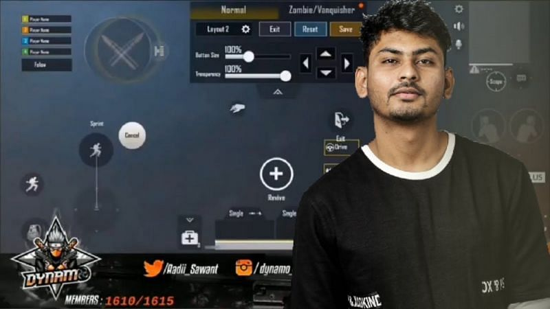 Hydra Dynamo is one of the most famous personalities in the Indian PUBG Mobile industry (Image credits: Eagle X Army YT)