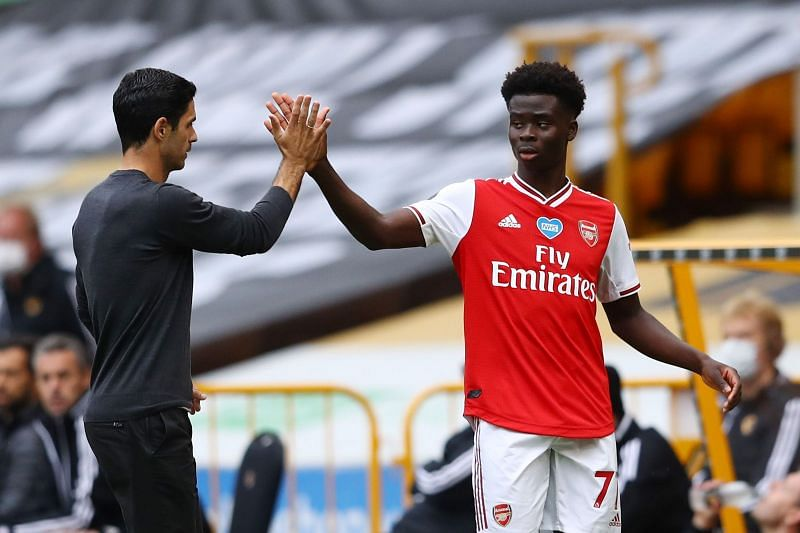 Bukayo Saka has become a firm favourite of Mikel Arteta