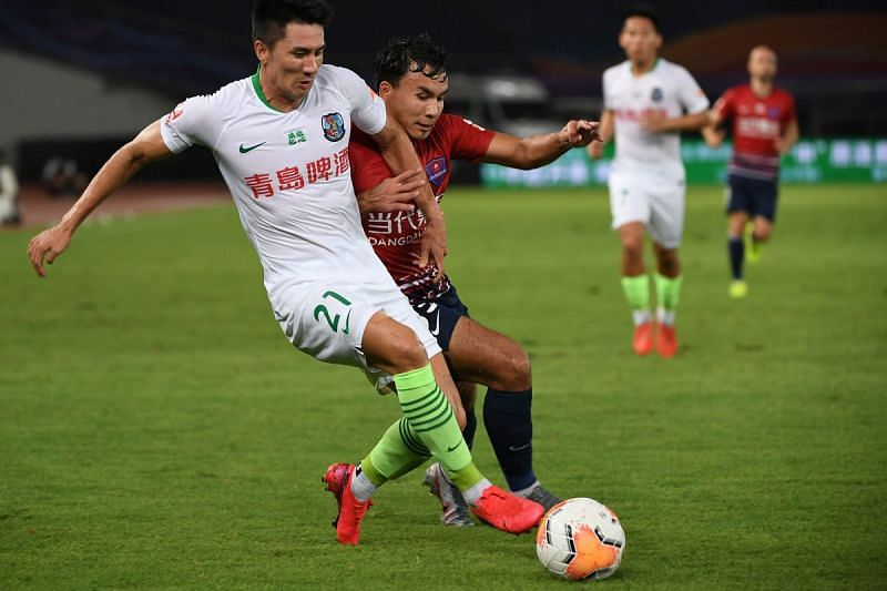 Qingdao Huanghai will be without the suspended Wang Wei for this crucial clash