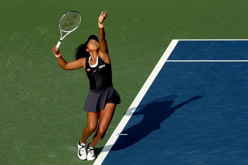 Naomi Osaka fired 12 aces in her first match at Cincinnati