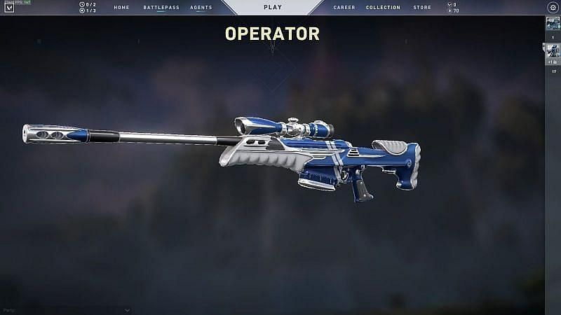 Many players, especially in the higher-ranked tiers, find the Operator to be a bit too overpowering for a game like Valorant (Screen Grab from Valorant Store)
