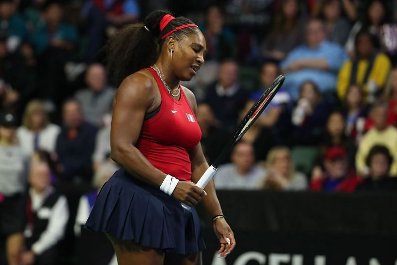 Serena Williams at the 2020 Fed Cup