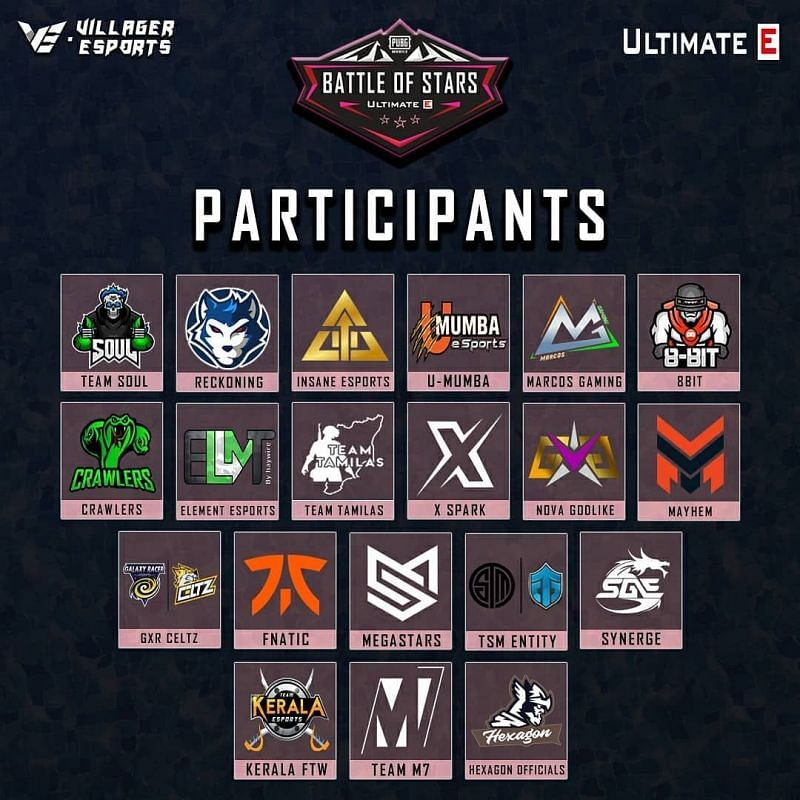 Battle of Stars participating teams list