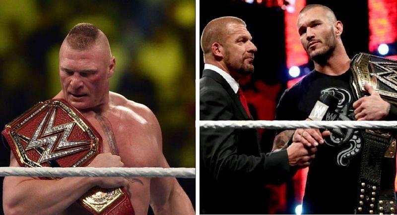 Brock Lesnar, Triple H, and Randy Orton