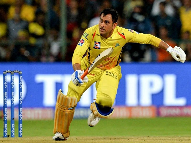 MS Dhoni in action for CSK