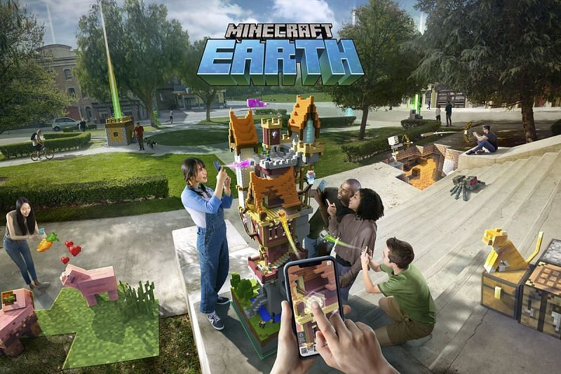 Minecraft Earth (Picture Credits: The Verge)